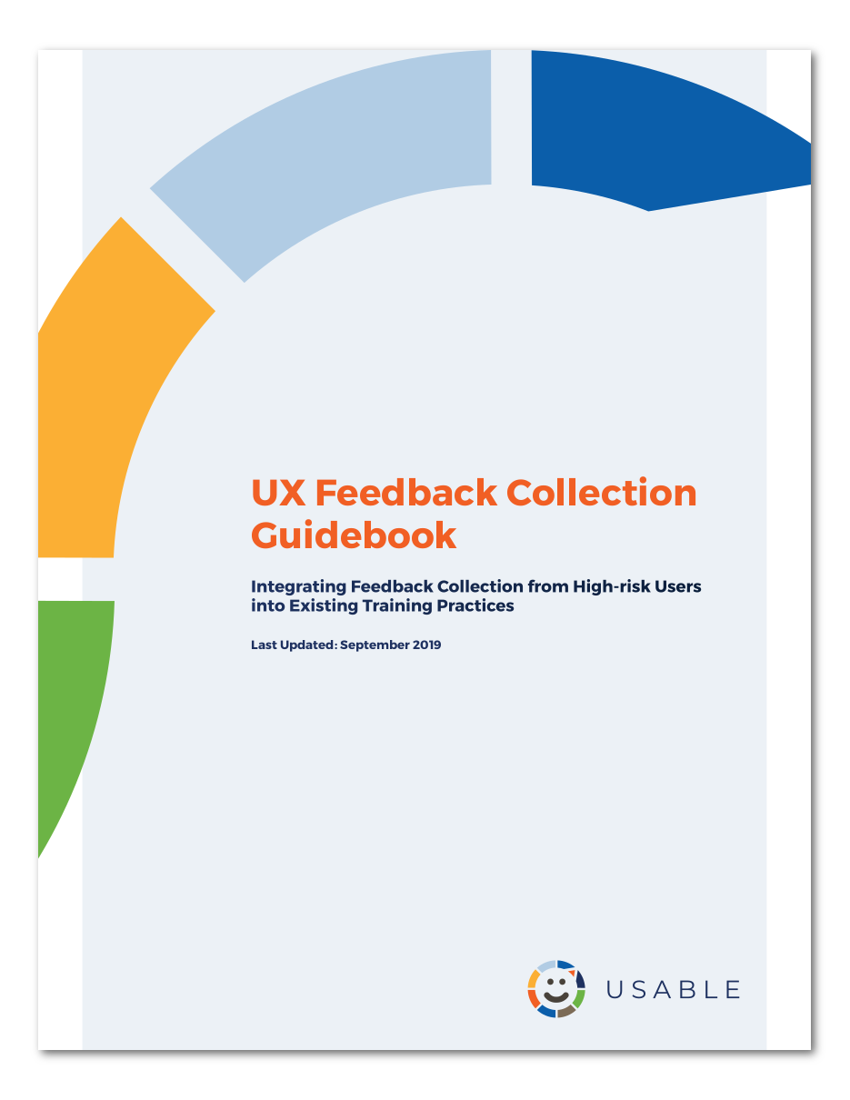 UX Feedback Guidebook cover