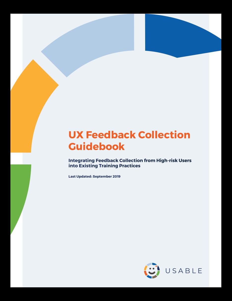 UX Feedback Guidebook cover