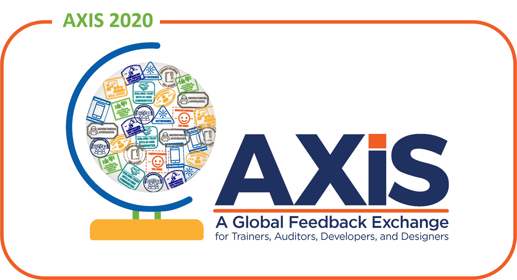 Image with title AXIS: A Global Feedback Exchange for Trainers, Auditors, Developers, and Designers in text