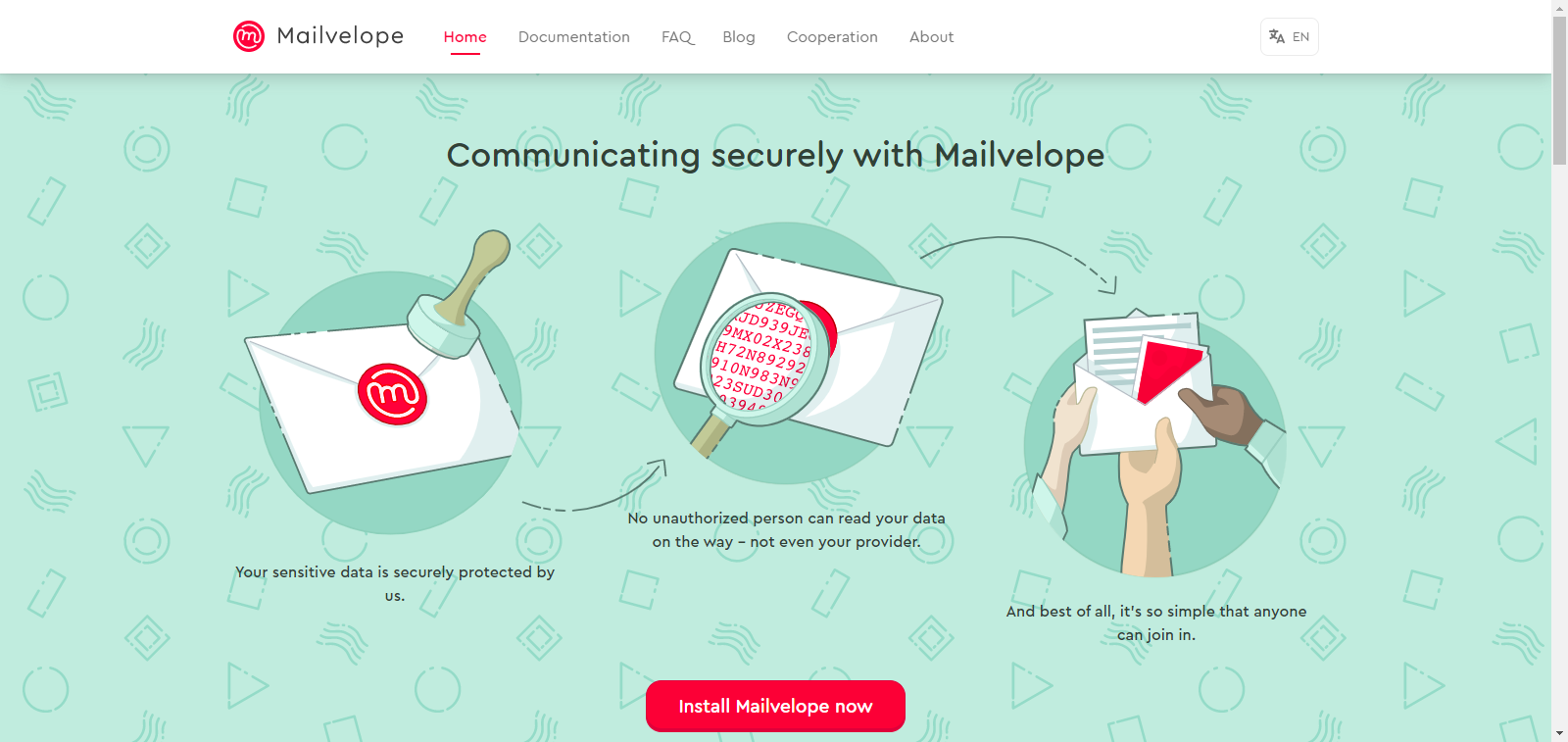 Mailvelope website